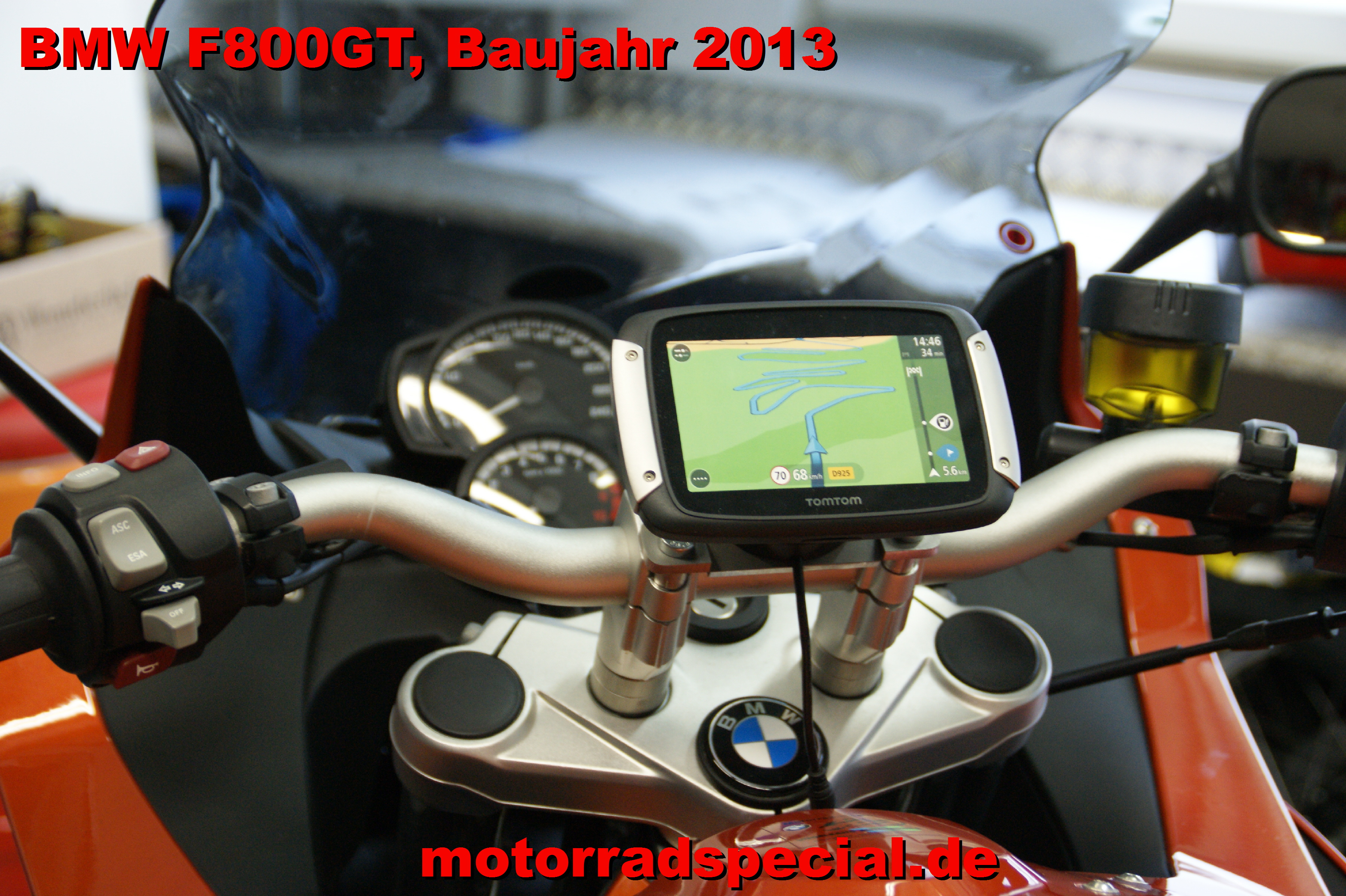 navigationshalterung f r die bmw f800gt tomtom rider 400. Black Bedroom Furniture Sets. Home Design Ideas