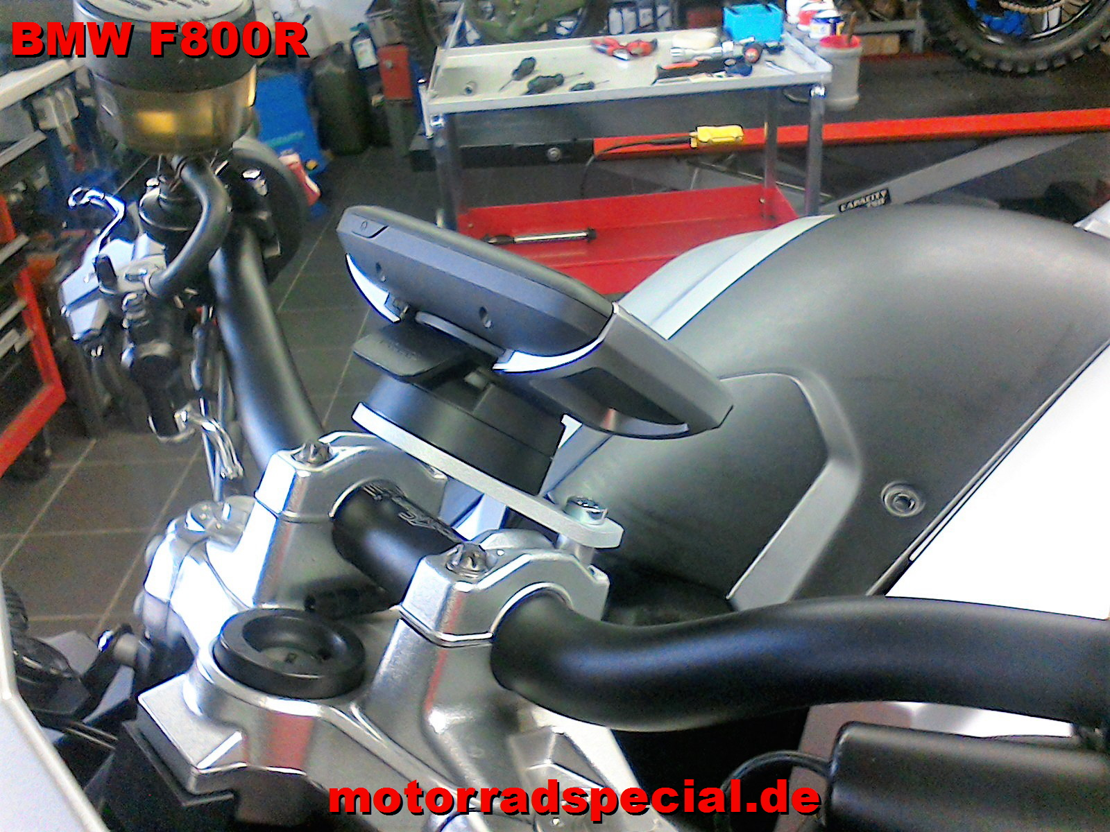 navigationshalter f r die bmw f800r tomtom rider 400 410. Black Bedroom Furniture Sets. Home Design Ideas