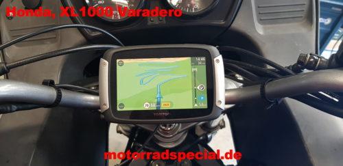 Navigationshalter für Honda XL1000 Varadero Ansicht von oben