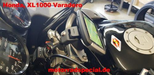 Navigationshalterung für Honda XL 1000 Varadero seitliche Ansicht
